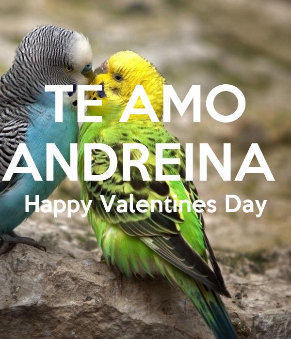 Te Amo Andreina Happy Valentines Day Poster Aaaaa Keep Calm O Matic
