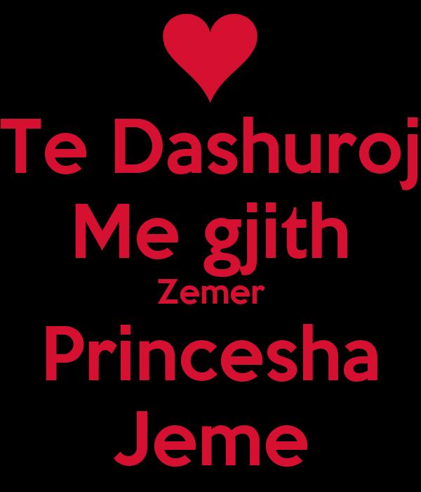 Piktura Me Zemra Te Dashuroj Me gjith Zemer Princesha Jeme KEEP CALM