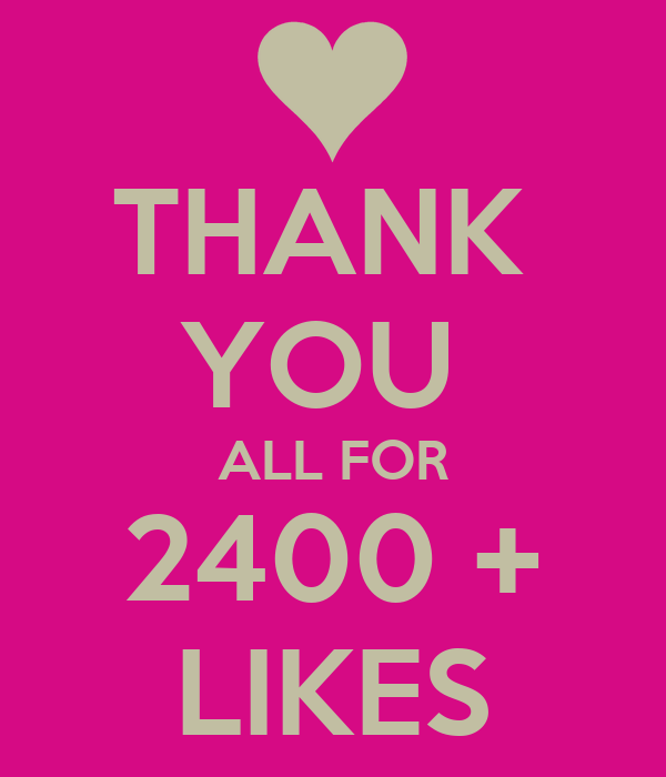 thank you all for 2400 likes poster macswomen keep calm o matic