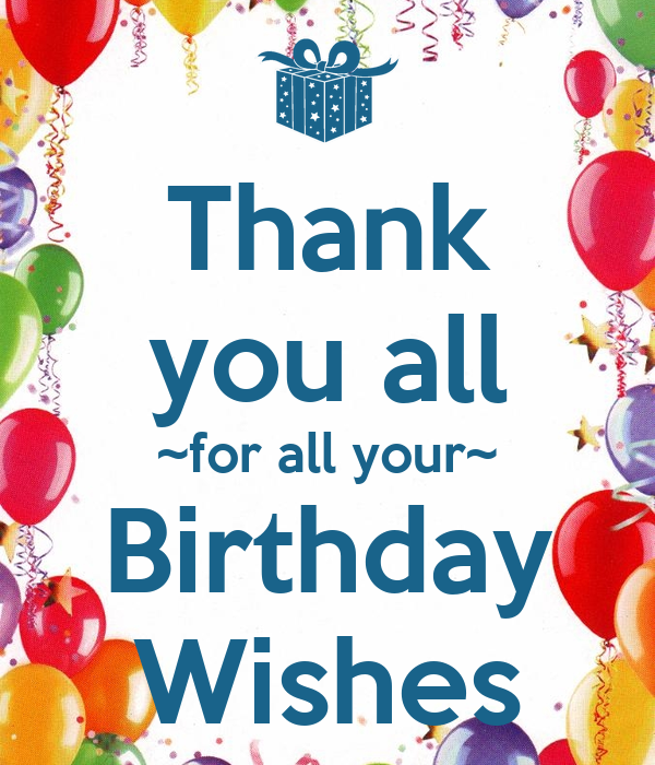 Thank You All ~for All Your~ Birthday Wishes Poster