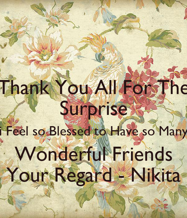 Thank You You Are Wonderful