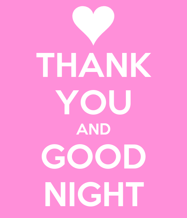 THANK YOU AND GOOD NIGHT Poster | diamond ball | Keep Calm-o-Matic