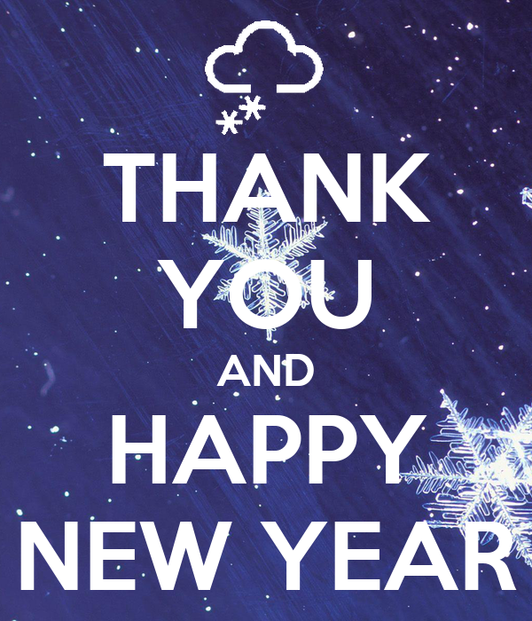 Image result for thank you and happy new year