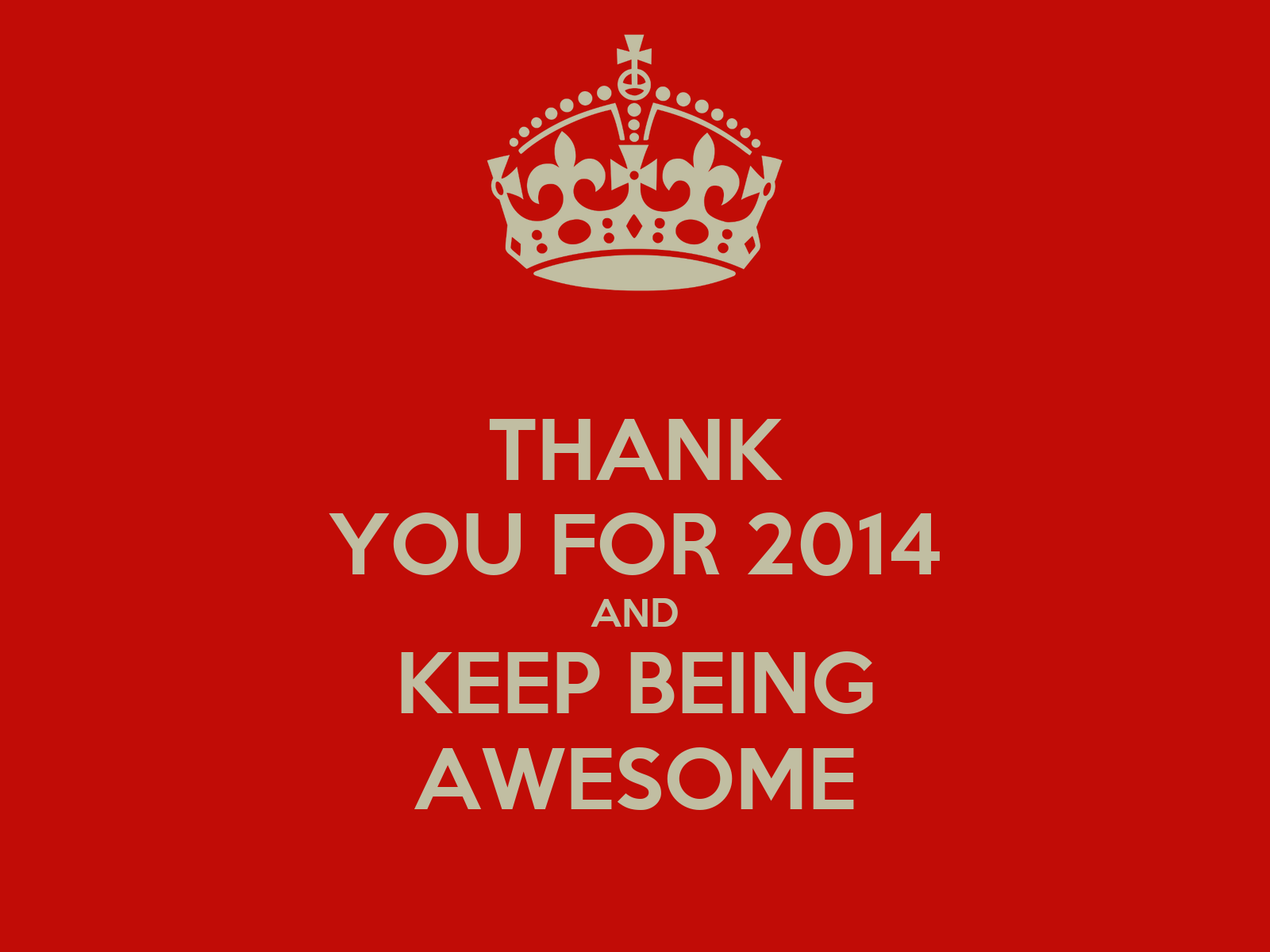 Thank You For 2014 And Keep Being Awesome Keep Calm And