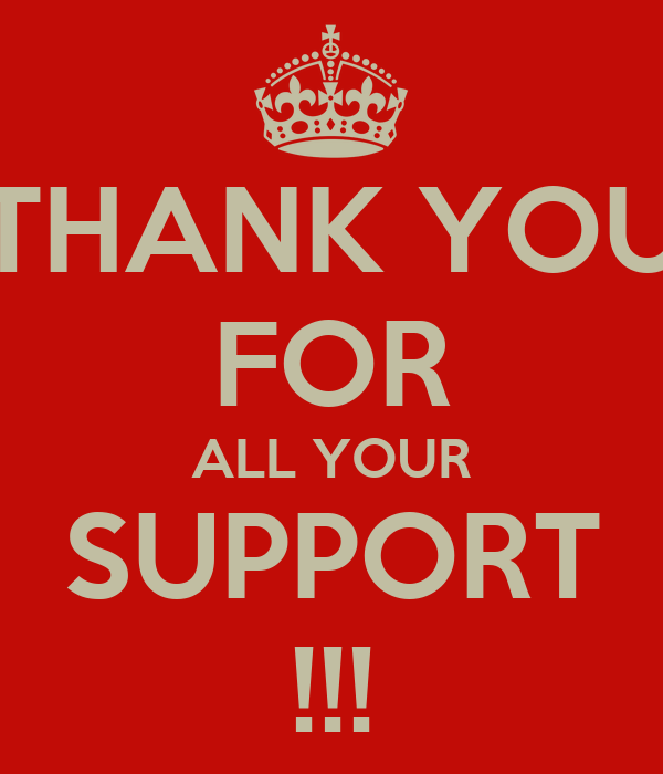 thank you for all your support poster gy keep calm o matic
