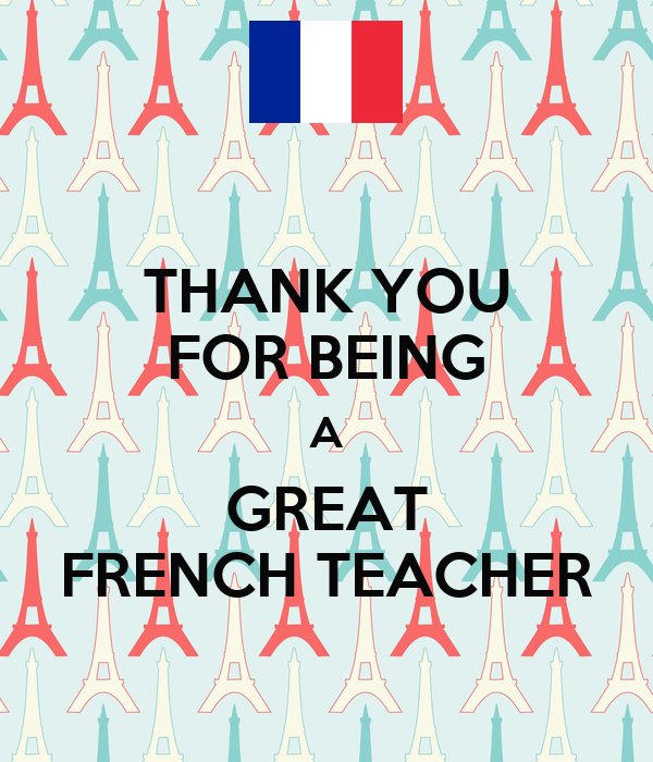 THANK YOU FOR BEING A GREAT FRENCH TEACHER Poster | AIMEE