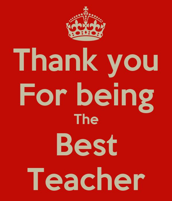 my best teacher