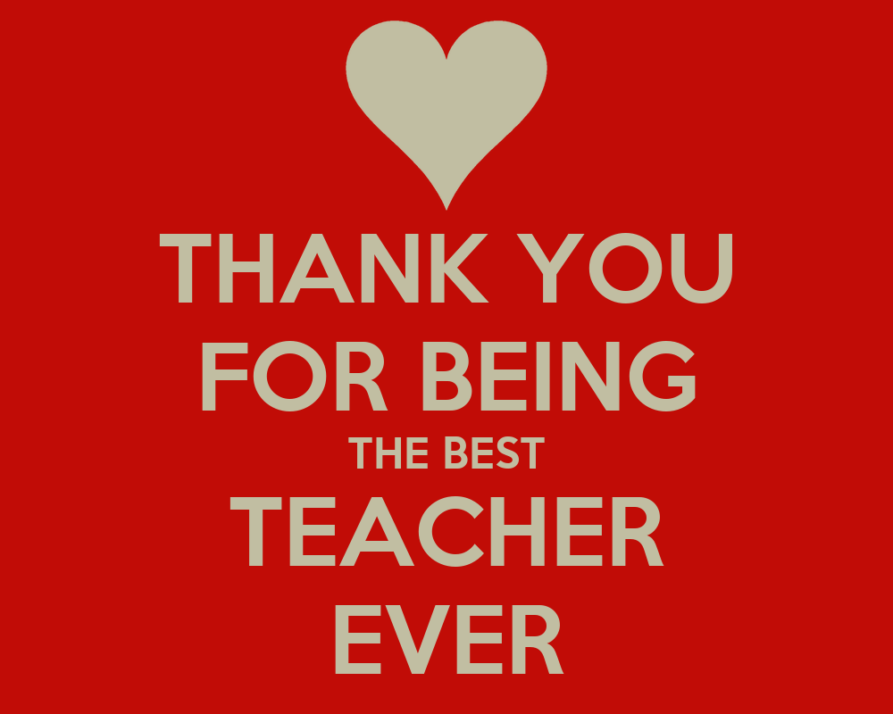 thank you for being the best teacher ever poster rebecca