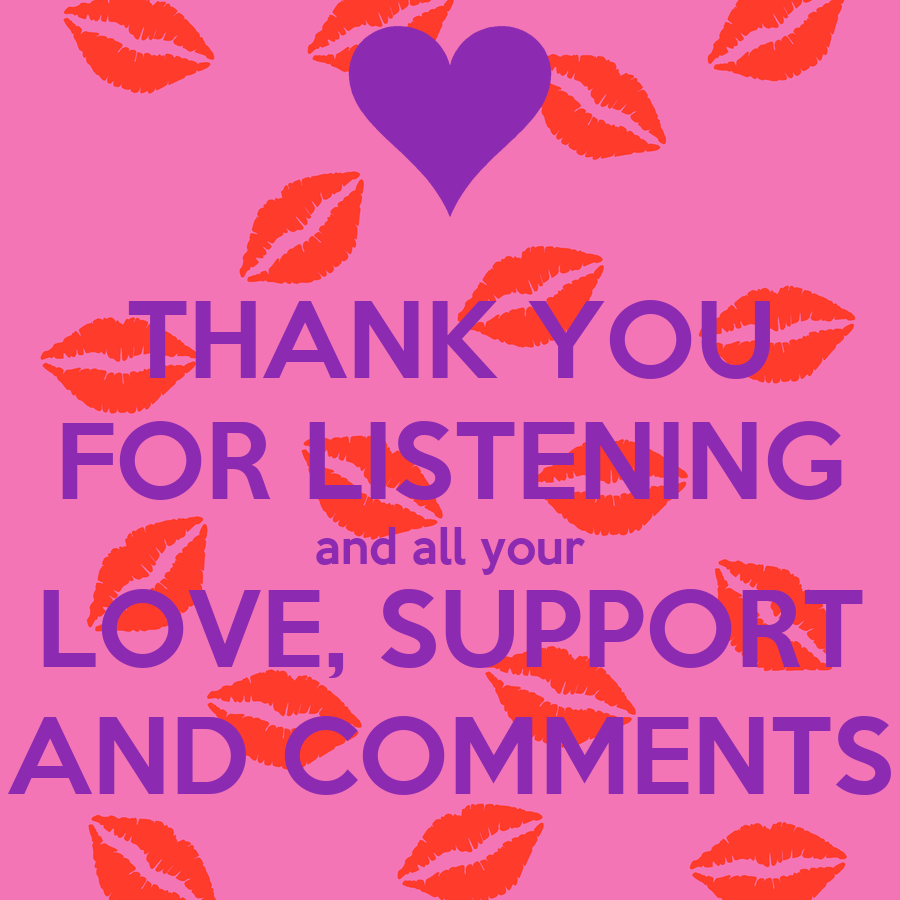 thank you for listening and all your love support and comments poster lee keep calm o matic