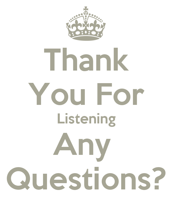 Thank You For Listening Any Questions Poster Lol Keep