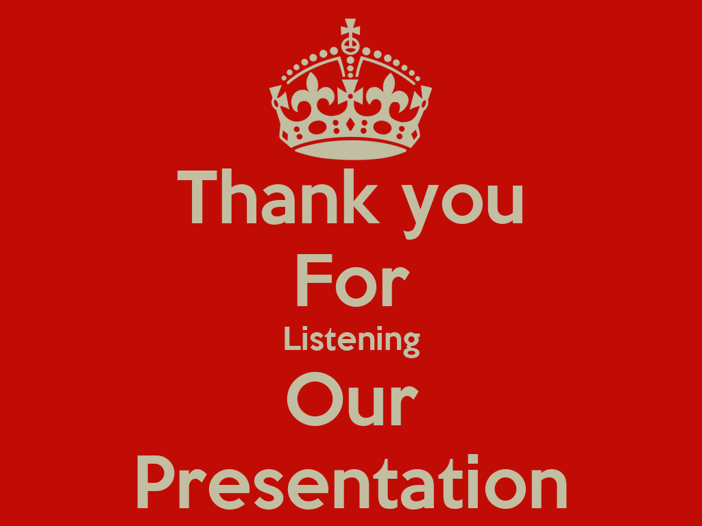 Thank you for listening our presentation 1