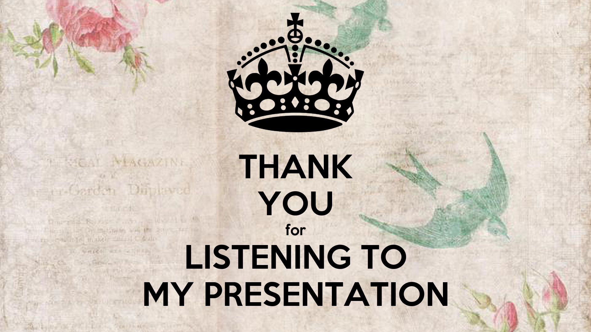 Thank You For Listening To My Presentation Animation Best Free