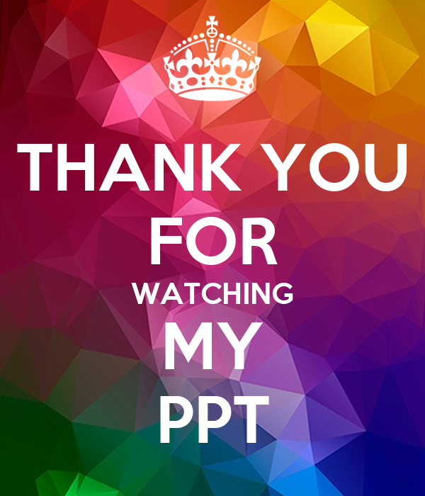 THANK YOU FOR WATCHING MY PPT Poster | VIKAT | Keep Calm-o ...