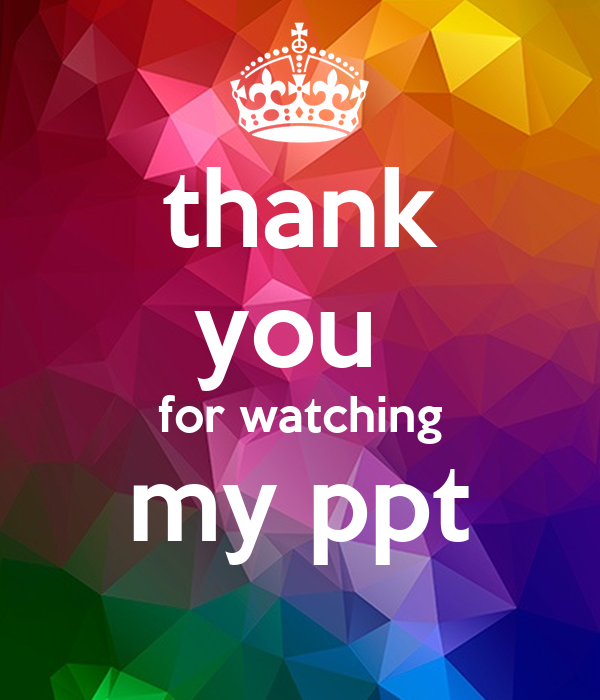 thank you for watching my ppt Poster | krietaan | Keep ...