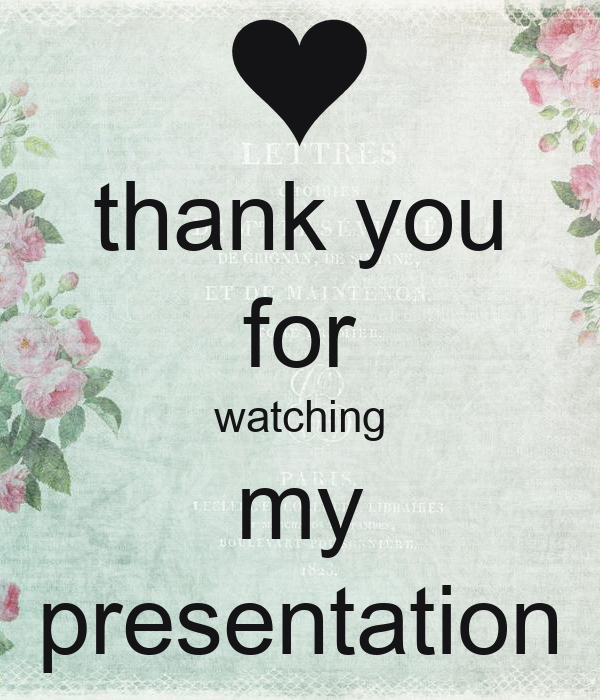 thank you for watching my presentation Poster | lily ...