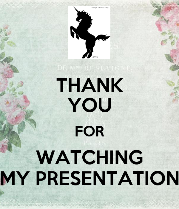 THANK YOU FOR WATCHING MY PRESENTATION Poster | GUIA ...