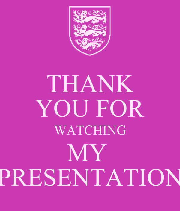 THANK YOU FOR WATCHING MY PRESENTATION Poster | JUBAER ...