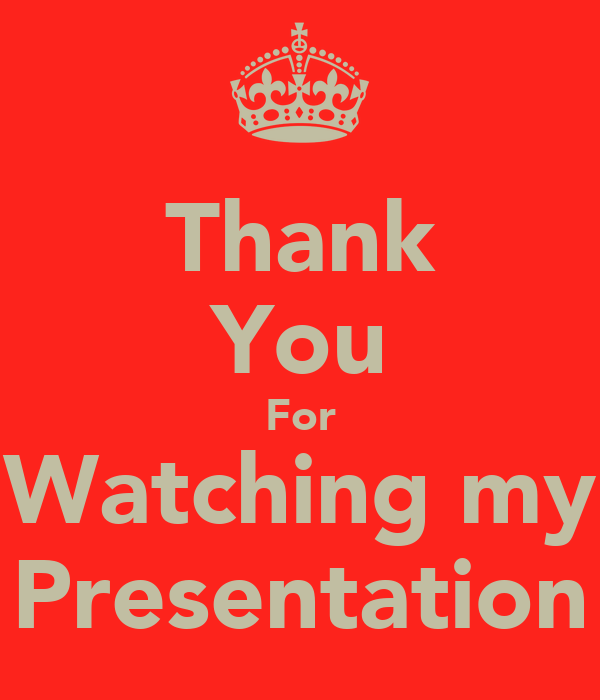 Thank You For Watching my Presentation Poster | Oliver ...