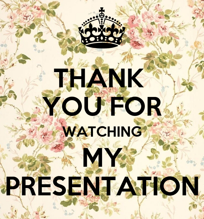 THANK YOU FOR WATCHING MY PRESENTATION Poster | kawaii ...