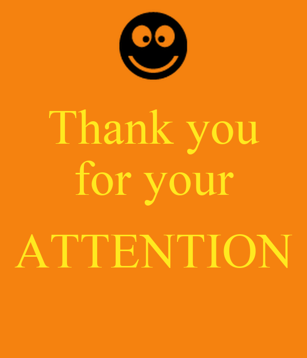 Images of Thank You For Your Attention Images - www industrious info