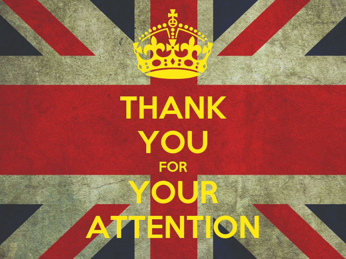 THANK YOU FOR YOUR ATTENTION Poster | TKS | Keep Calm-o-Matic