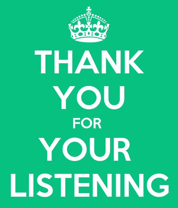 THANK YOU FOR YOUR LISTENING Poster | SUNMI | Keep Calm-o-Matic