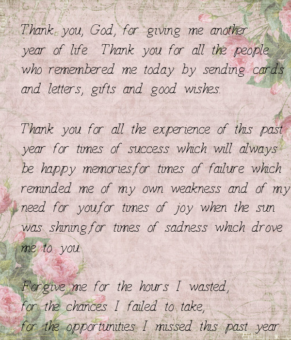 Thank You Quotes For Giving Gifts: Thank You, God, For Giving Me Another Year Of Life Thank