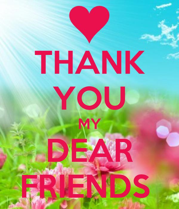 Thank You My Dear Friends Poster Lieznarahma5 Keep Calm O Matic