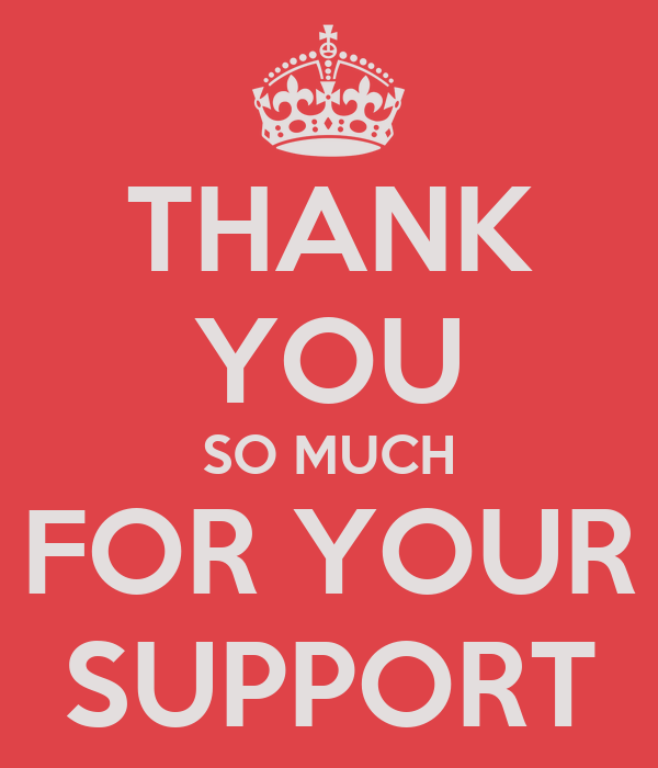 THANK YOU SO MUCH FOR YOUR SUPPORT Poster | Phil | Keep ...