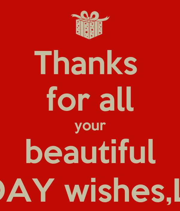 Thanks For All Your Beautiful BIRTHDAY WishesLATIFA