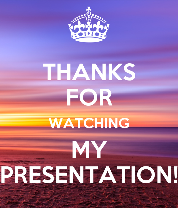 THANKS FOR WATCHING MY PRESENTATION! Poster | CHARLOTTE ...