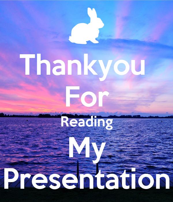 thankyou for reading my presentation poster lara keep