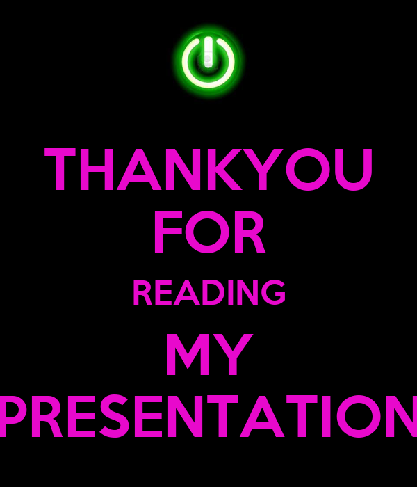 thankyou for reading my presentation poster loulou