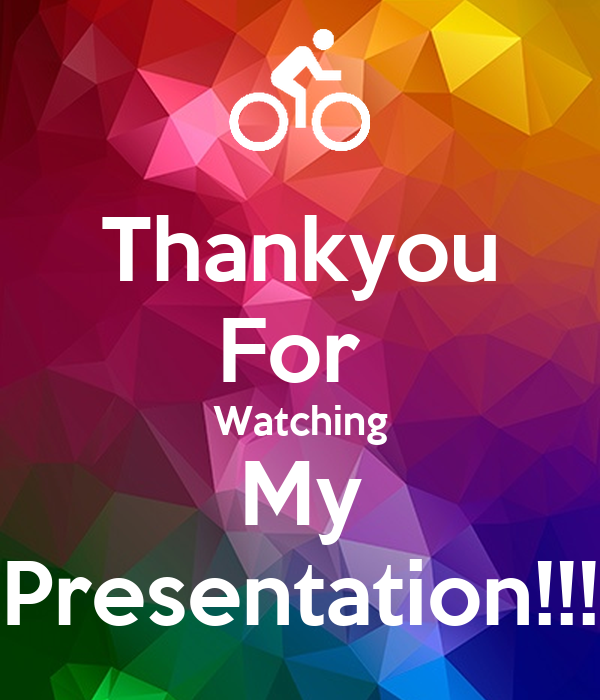 Thankyou For Watching My Presentation!!! Poster | Jake ...