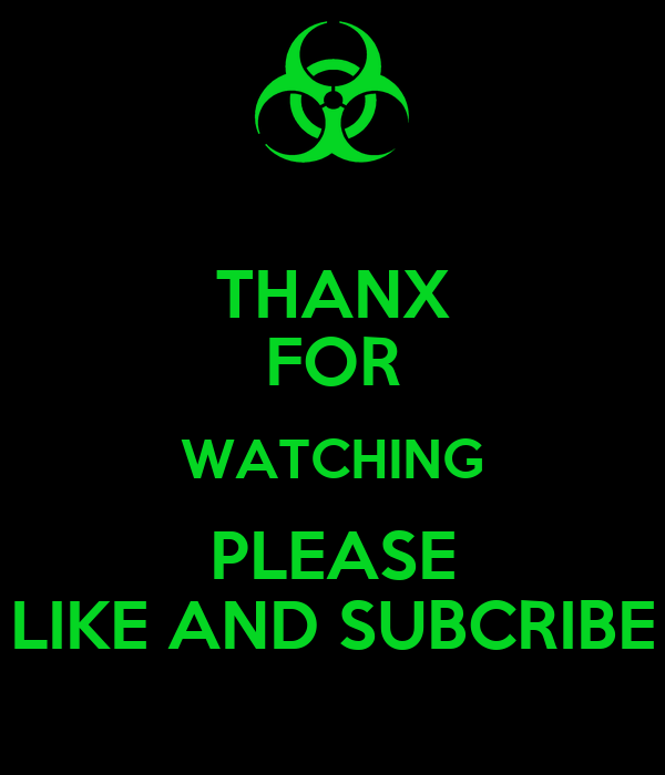THANX FOR WATCHING PLEASE LIKE AND SUBCRIBE Poster
