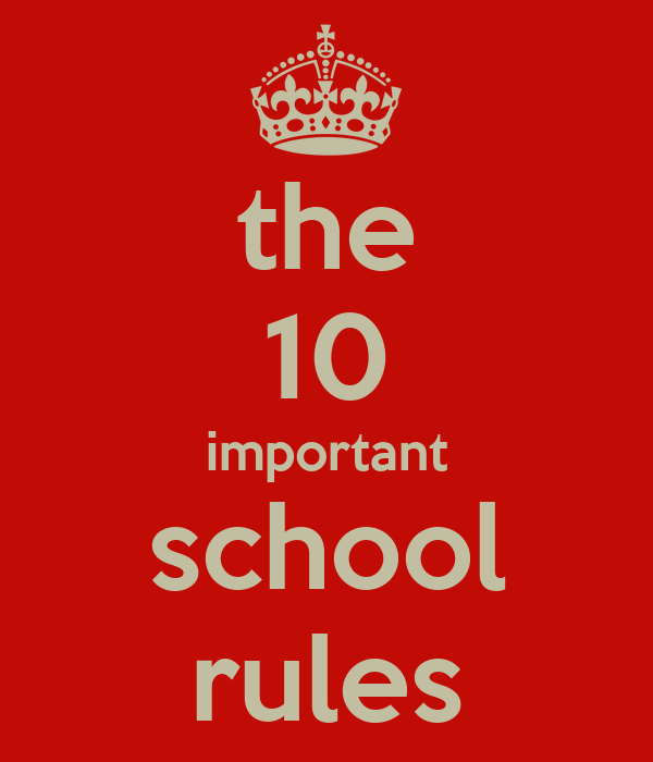 why are rules important essay School rules are important to follow because they enable the class to run smoothly so that everyone can learn and benefit from what the teacher has to offer when students follow school.