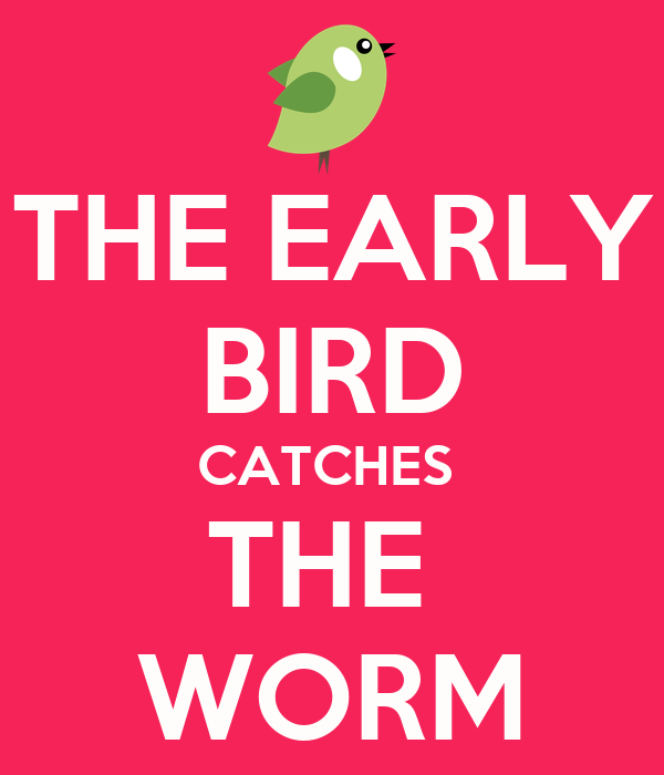 early bird catches the worm Essays - largest database of quality sample essays and research papers on the early bird catches the worm.