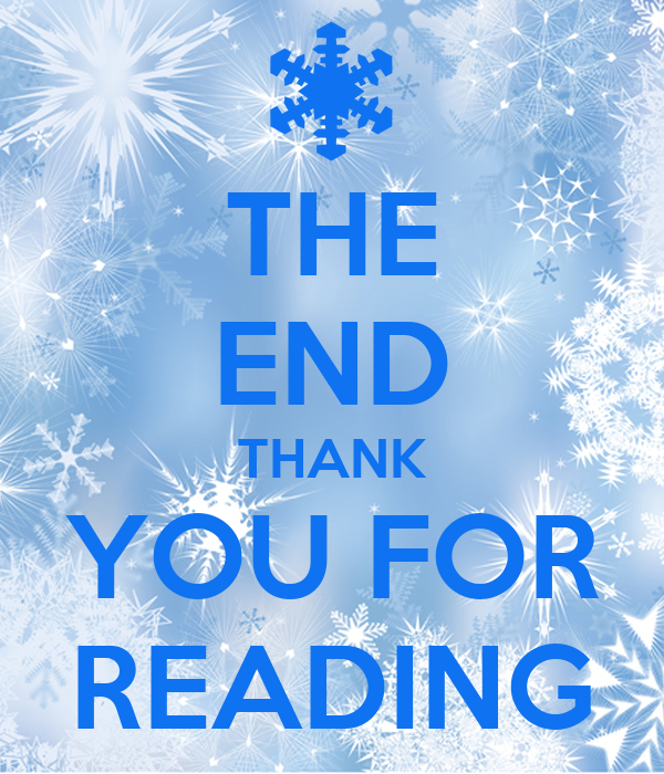 the end thank you for reading poster lexie keep calm o