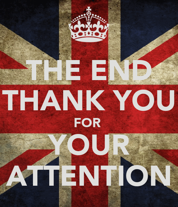 THE END THANK YOU FOR YOUR ATTENTION Poster | Verónica ...