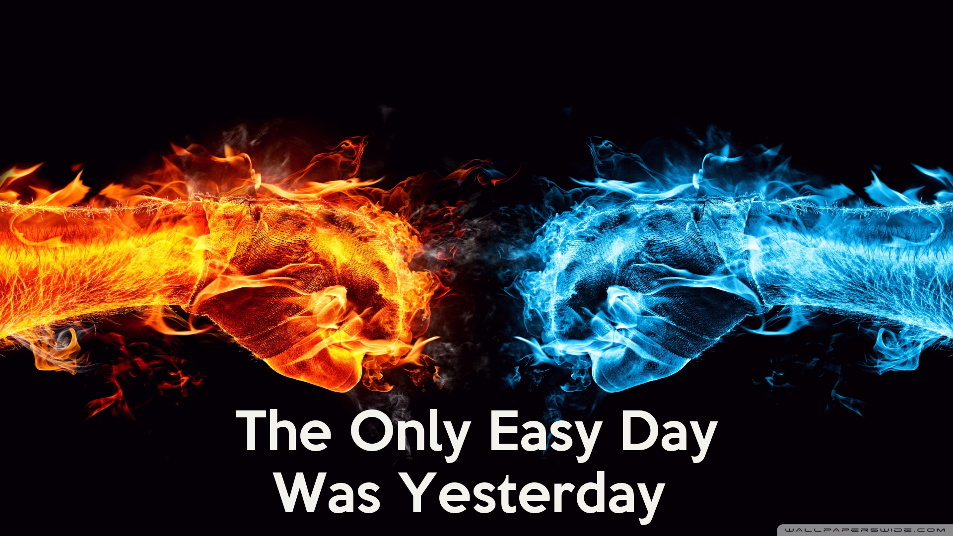 The Only Easy Day Was Yesterday Poster | EasyDay | Keep ...