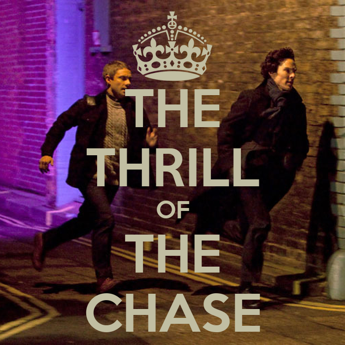 the thrill of the chase poster lenajedheart keep calm