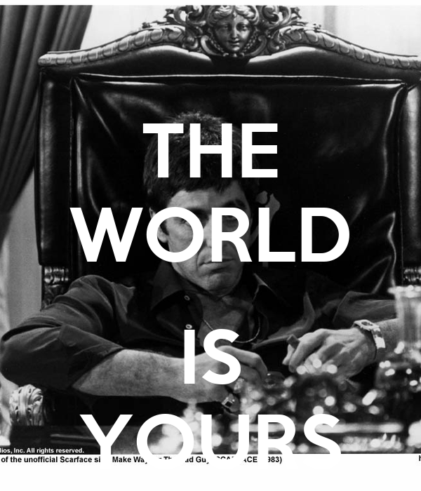 Scarface quotes the world is yours