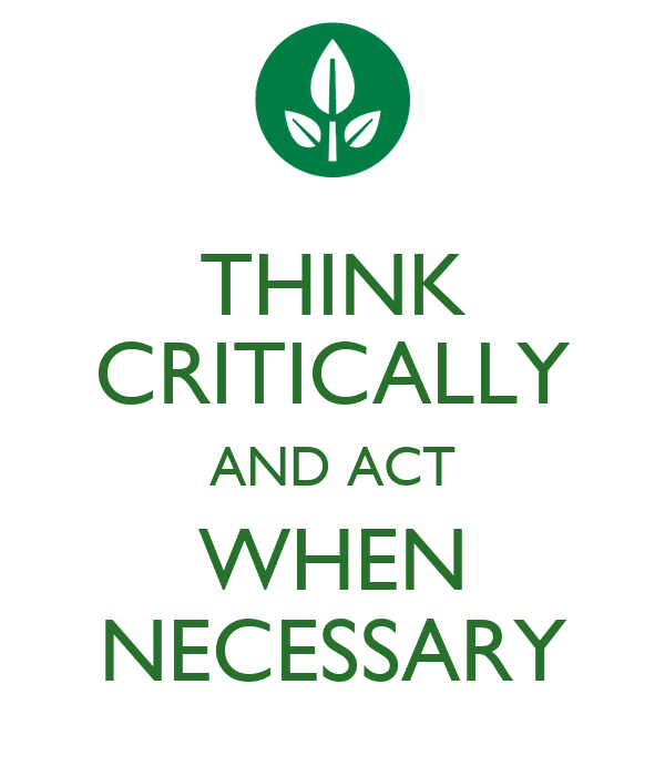 is critical thinking necessary