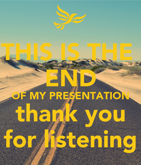 how to end an online presentation