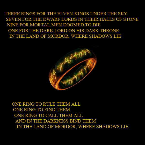 Three Rings For The Elven Kings Under The Sky