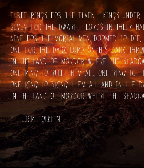 Three Rings For The Elven Kings