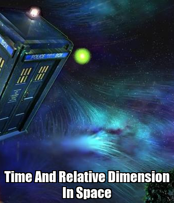 Time and relative dimension in space keep calm and carry for Dimensions of space and time