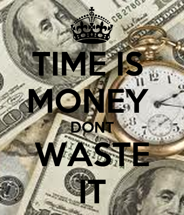 Time is money - Coursework Sample - September 2019 - 1832 words