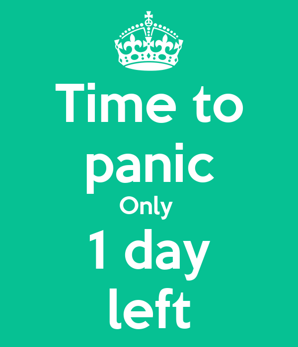 Image result for time to panic