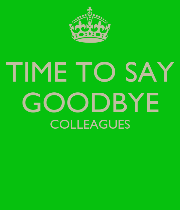 goodbye for colleagues